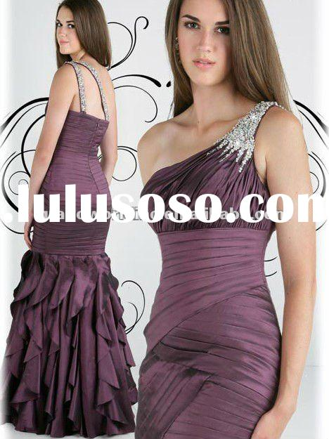 One-shoulder Mermaid Best Seller Evening Dresses Prom Gowns IMP-034