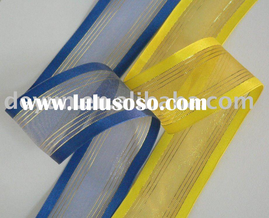 Organza ribbon satin edge