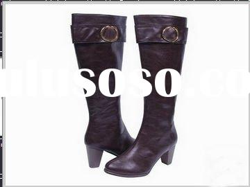 PAYPAL!!! brown leather high heel boots