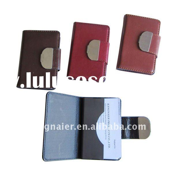 PU leather door name holder/name tag holder/business card case