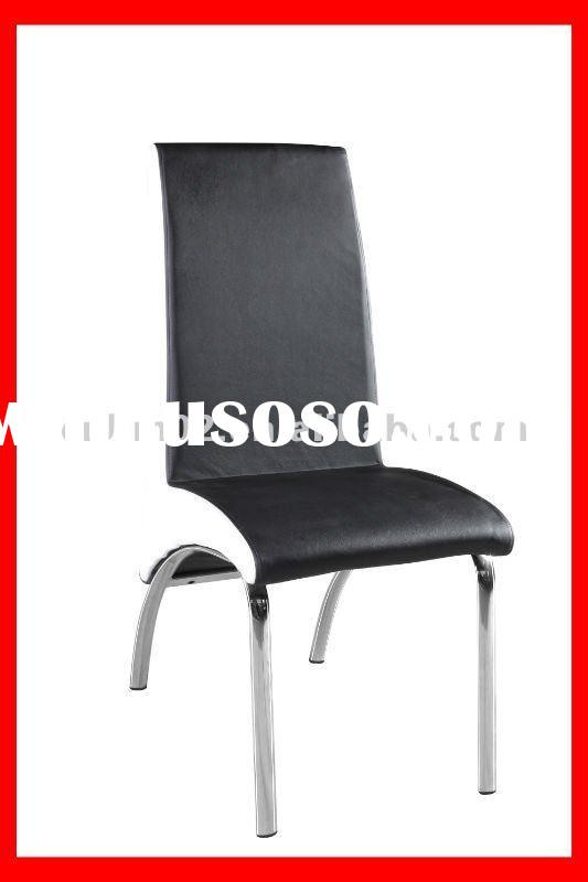 PU leather with foam stackable home dining chair and dining table