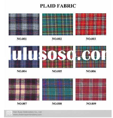 Plaid Fabric color chart