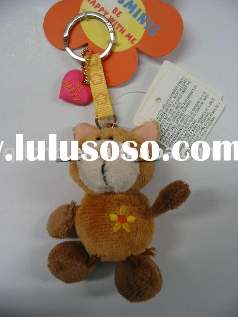 Plush Cat Kitty Plush Cat Keychain Mini Plush Stuffed Cat Soft Leg Keyring Mini Plush Toy