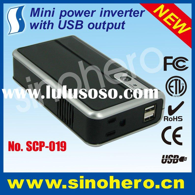 Portable battery power supply--DC to AC