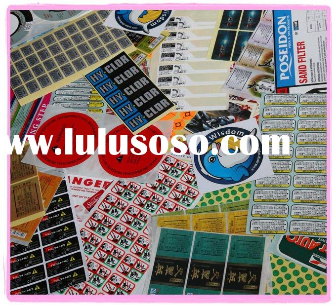 Profesional adhesive vinyl stickers manufacturer