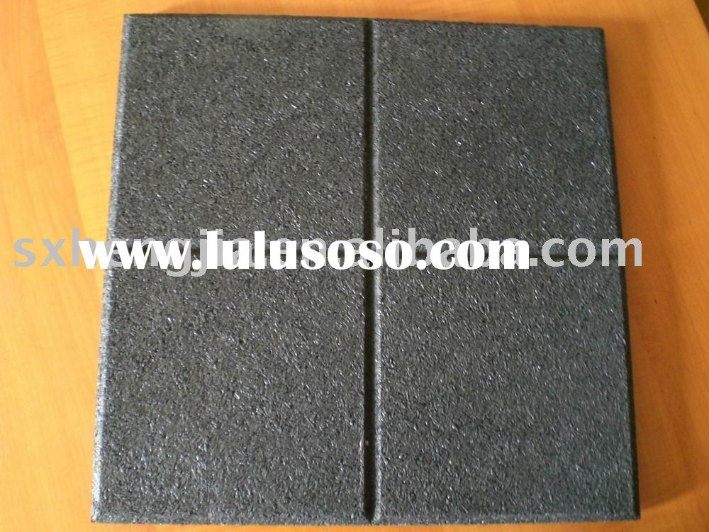 Rubber floor pavers