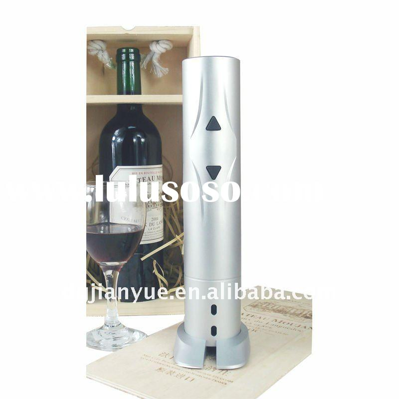 Silver battery operated wine opener