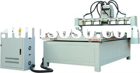 Six-heads CNC Router machine(For wood,acrylic,advertisement,relief,stone,organic galss,double-color