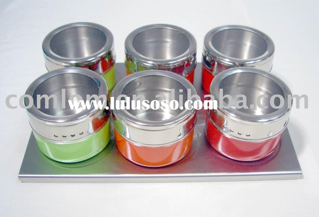 Spice rack set stainless steel