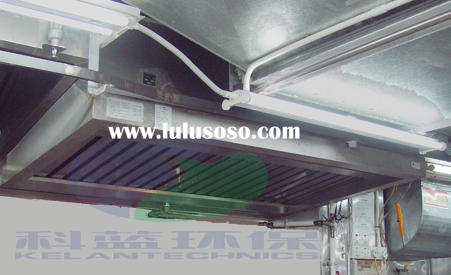Stainless Steel Cooking Stove Ventilation Hood with Fume Elimination ESP Filters