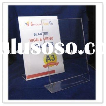 Straight acrylic menu holder , tag stand , clear acrylic holder
