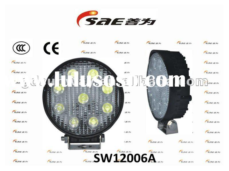 Sunway Hot Sale! 27W super bright LED work light for ATV/TRUCKS/CONSTRUCTION/MINING etc. IP68