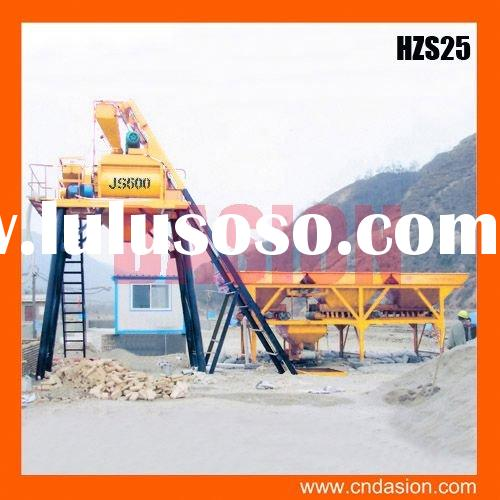 The best after-sales HZS25 batching plant for concrete mixer truck