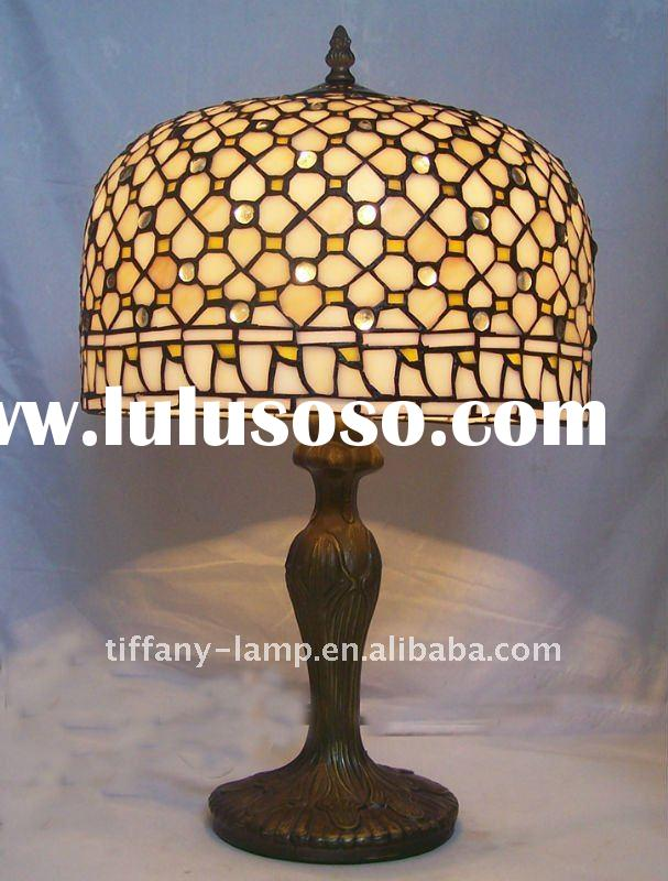 Tiffany glass table lamp dome light shade