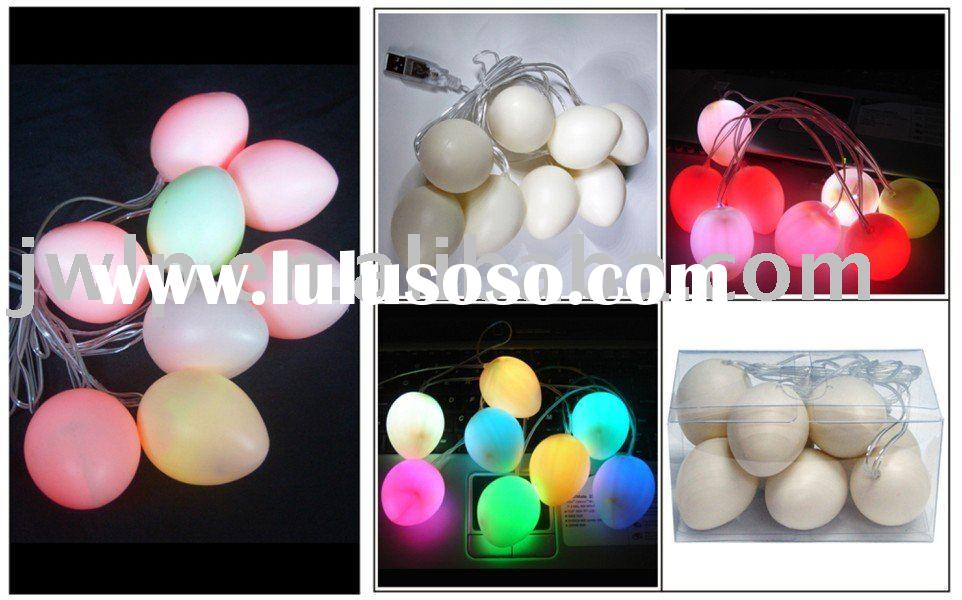 USB Easter decorate light 8pcs 7 colors change LED with egg