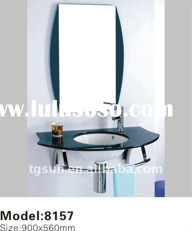 Wall MountedCeramic Bowl Glass Wash Basin