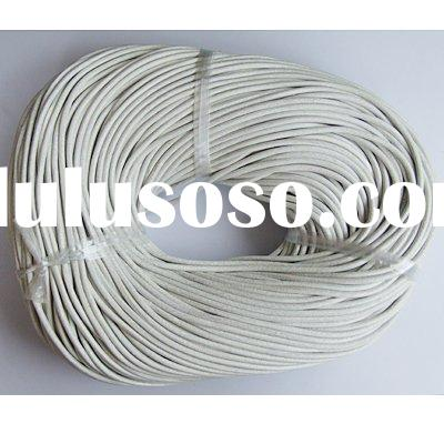 White Leather Cord 1.5/2.0/2.5/3/4mm