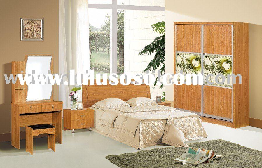 Wood bedroom furniture queen size bed