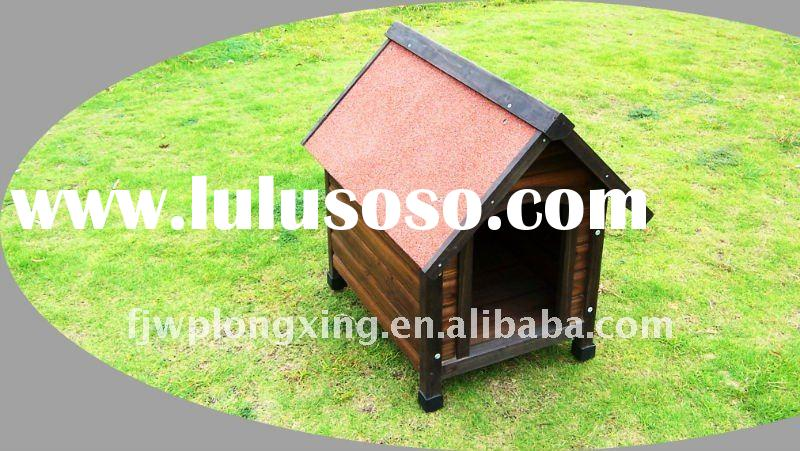 Wooden pet house dog cage