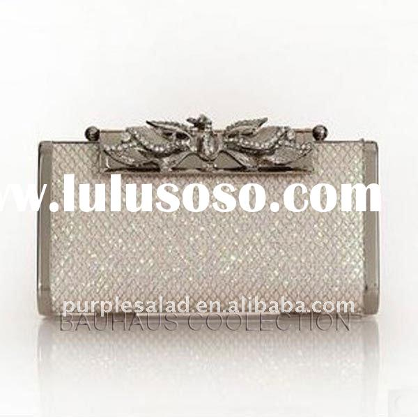 """Glitter"" Hard Case Crystals Clutch Bag And Evening Bag"