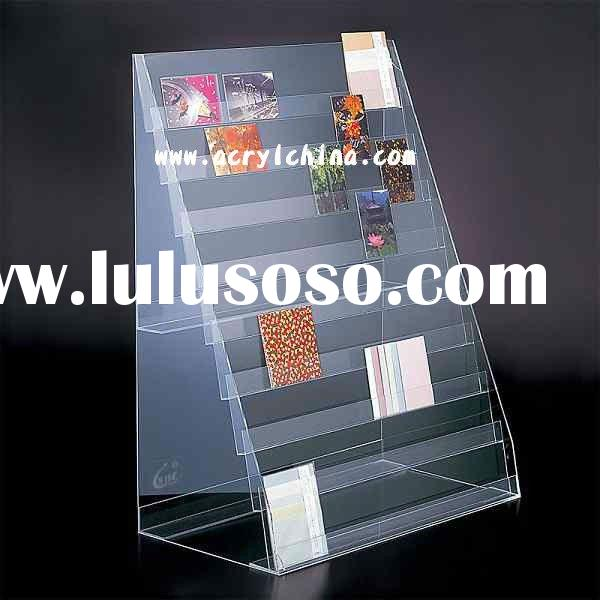 acrylic post card display / greeting card display stand / literature rack