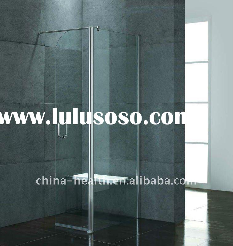 bathroom shower enclosure with seat