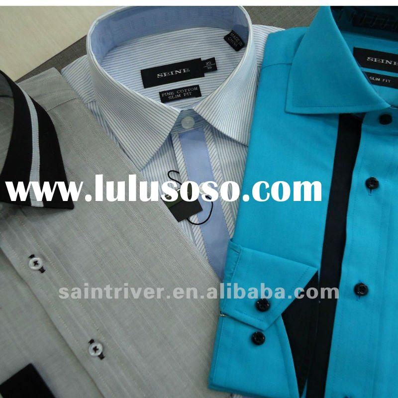 camisa/fashion design men's solid dress shirt
