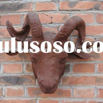 cast iron lamb head &garden decoration&animal