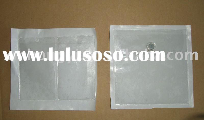 clear plastic PVC polythene pouch with adhesive backed