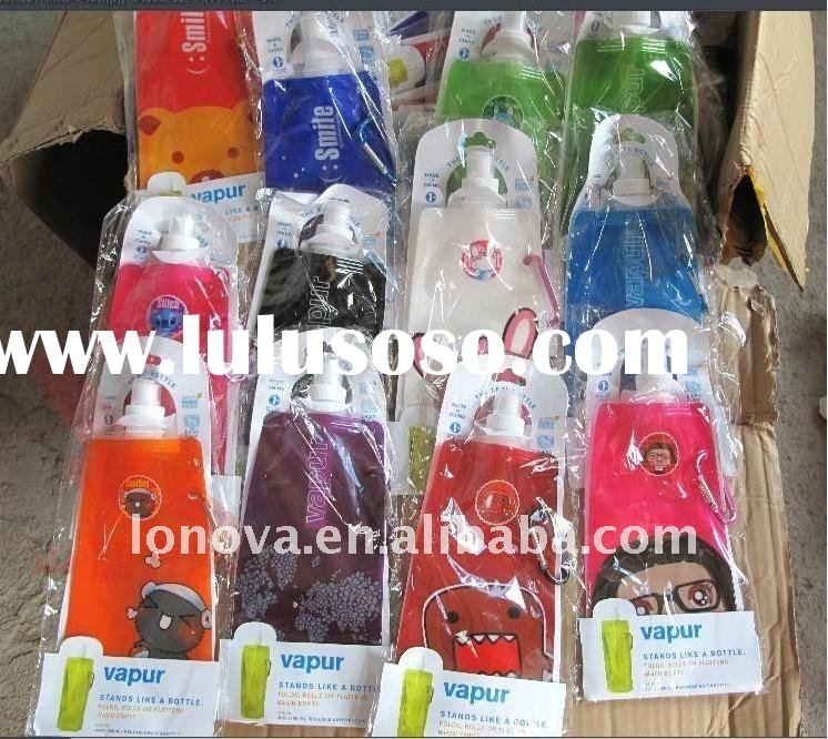 clear plastic water bottles