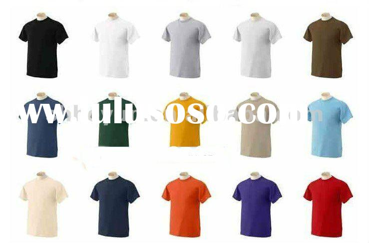 cotton plain bulk blank t-shirts