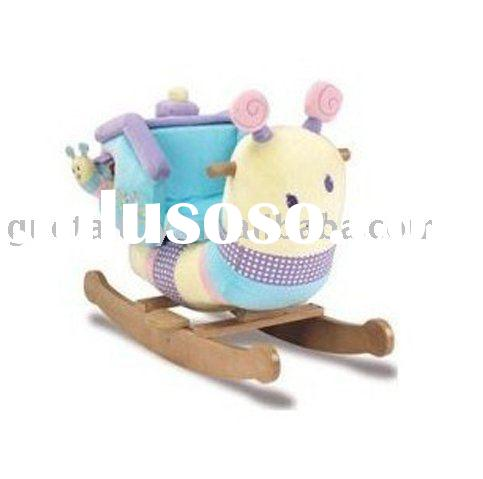 cute snail rocking horse/plush ride on toys