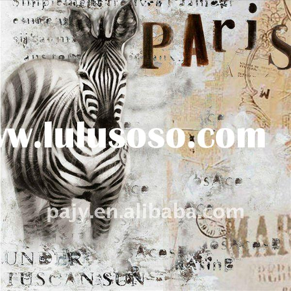 decorative abstract zebra oil painting