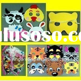 fashion foam cute animal head cartoon face masquerade funny party masks for kids