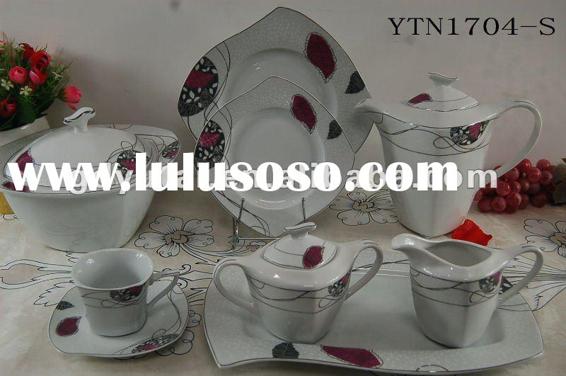 fine porcelain dinnerware with new shape for 6 or 8 person