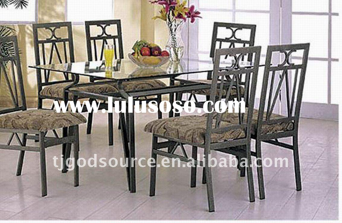 glass dining table and chairs GS-10030/GS-60060