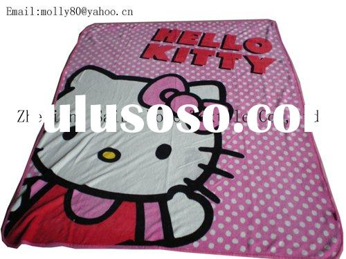 hello kitty Dinsey design printed coral fleece baby blanket