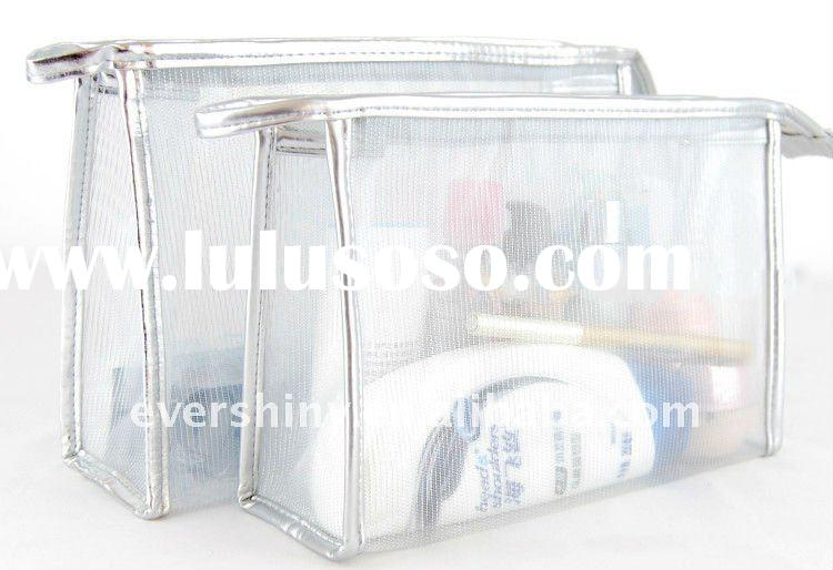 hot sale zip top open promotion fashion mesh cosmetic bag