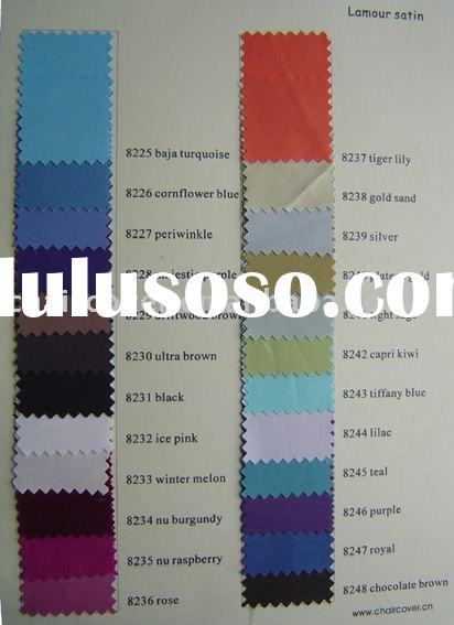 lamour satin color chart, polyester fabric