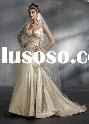 long silk tulle lace bridal wedding dress veil