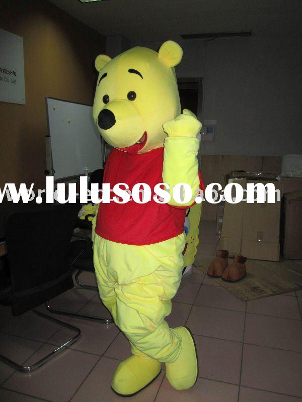 lovely winnie the pooh costume, movie cartoon costume,fancy dress costume