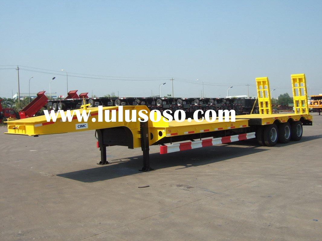 lowbed trailer with hydraulic gooseneck