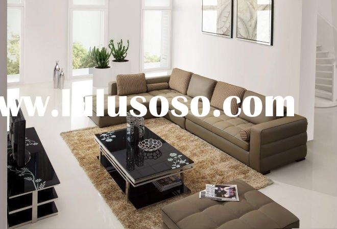 modern Italy leather sofa, leather sofa for living room, corner sofa