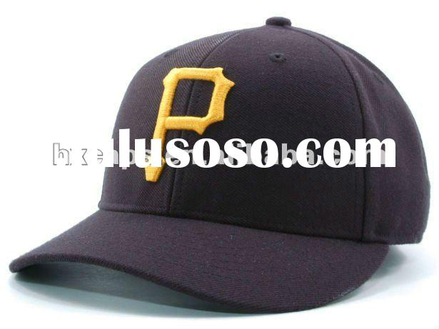 new fashion black hat with 3D embroidery