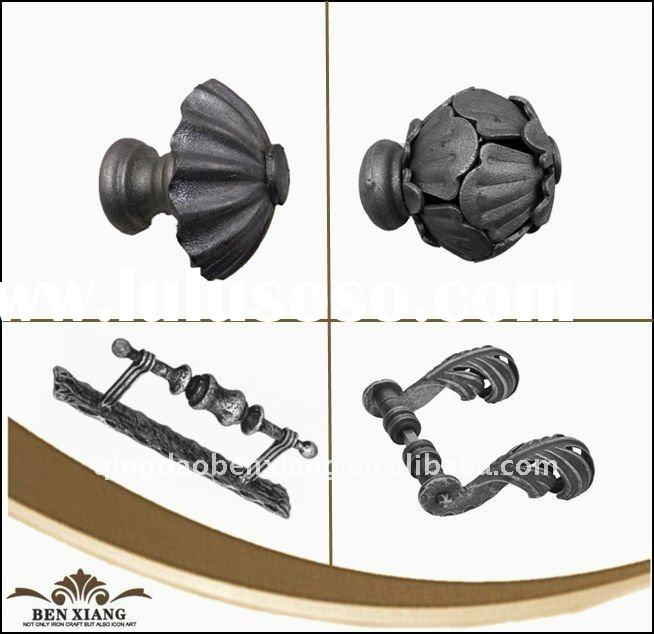 ornamental wrought iron gate handle,wrought iron gate parts