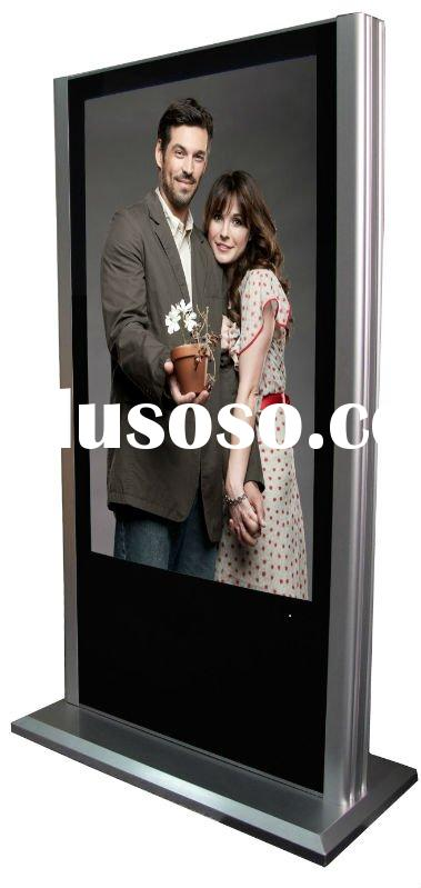 pop display,55 inch lcd floor advertising sign display,banner stand for exhibition(VP550D-1)