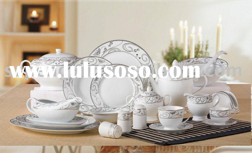 porcelain or bone china or ceramic round shape dinnerware tableware dinner set