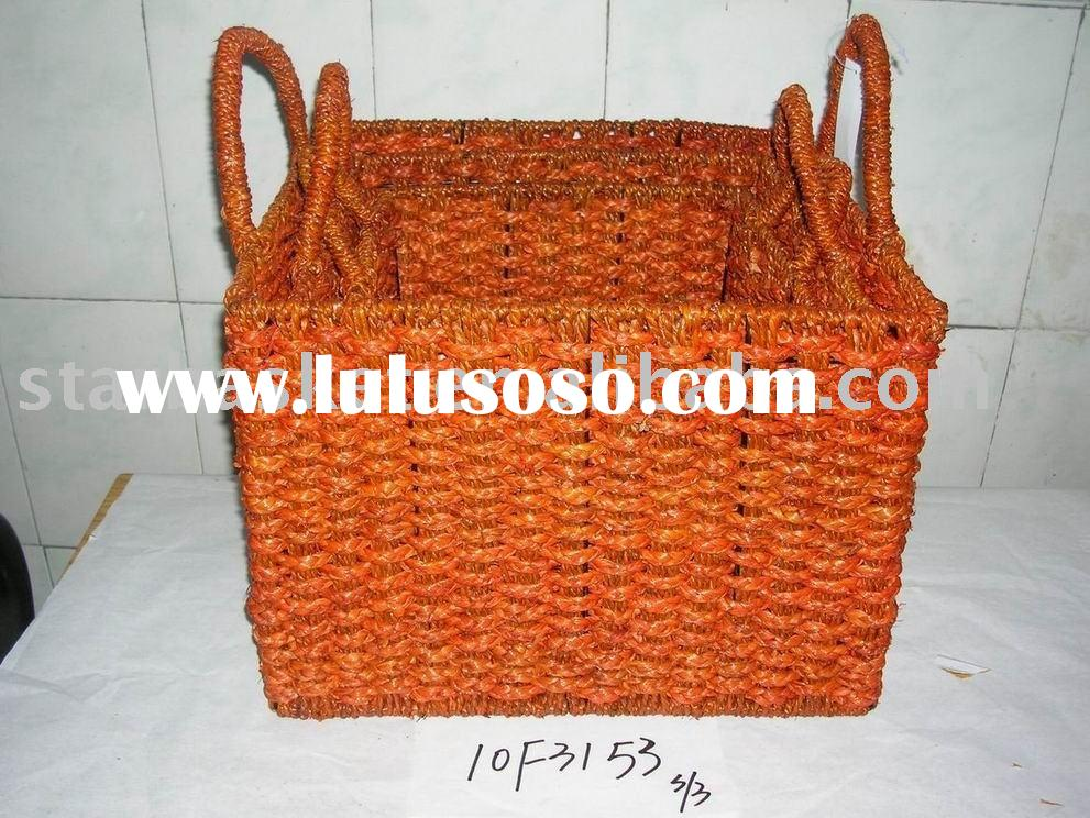 seagrass laundry basket with handle 10F3153