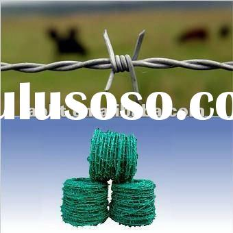specialize production galvanized/PVC coated barbed iron wire(Manufacturer)