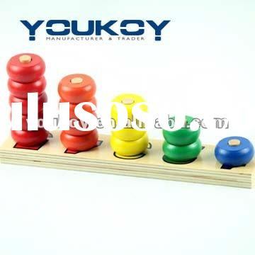 stacking bead educational wooden toys
